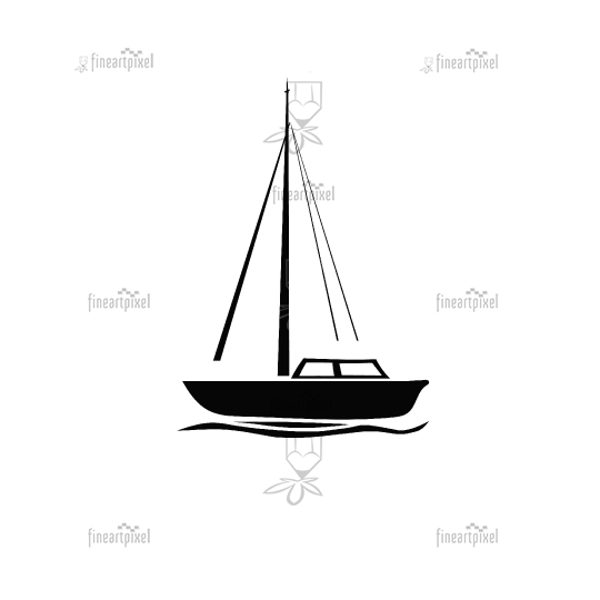 Boat logo icon vector isolated