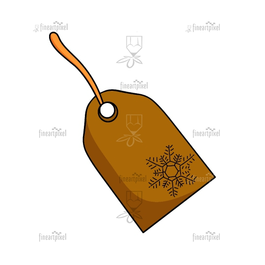 Christmas sales tag vector isolated