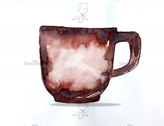 Coffee Cup Watercolor Painting