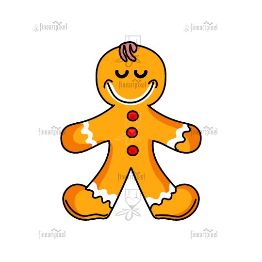 Ginger bread Merry Christmas illustration vector isolated