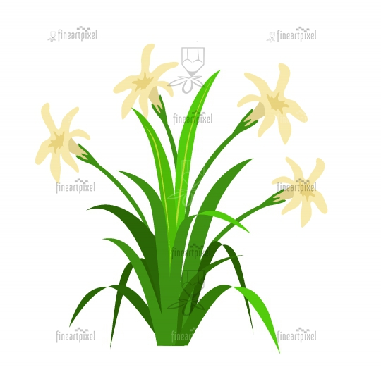 Grass with flowers logo icon