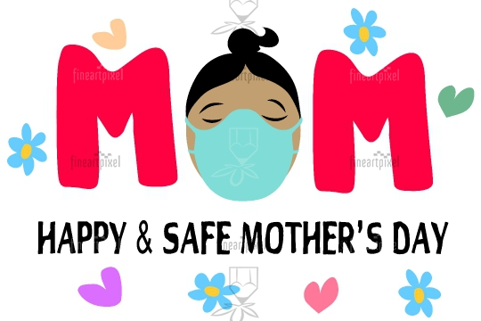 Happy and safe mothers day banner background