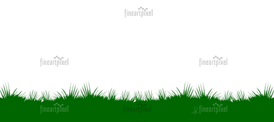 Isolated Grass Banner - Vector