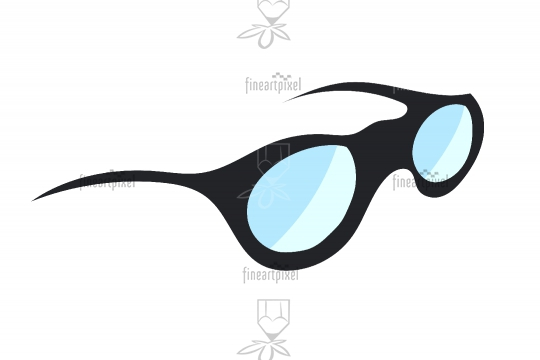 Sun glass vector isolated on white background