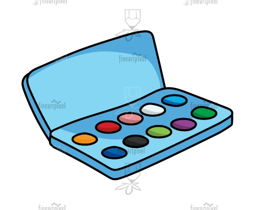 Water color box illustration